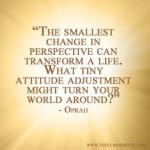 The smallest change Oprah